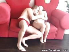 Teeny lovers - older bf fucks teeny good