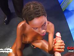 German ebony zara pounded and rewarded with jizz
