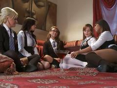 Hot sorrority sisters lesbian orgy