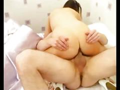 Horny slut cheating wife love riding her husband's friend