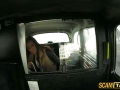 Hot veronica is giving a blowjob for a free ride and gets fucked in the backseat