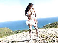 Asha enjoys the sunny weather