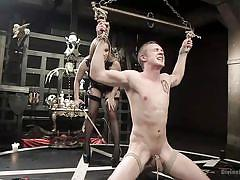 bdsm, torture, mistress, whipping, ass fingering, electric wand, device bondage, female domination, divine bitches, kink, zane anders, aiden starr