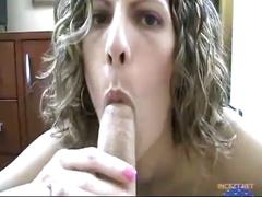 Mom blackmailed into giving son a blowjob