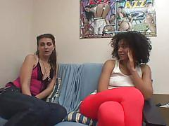 Two amateur babes fucked hard and sitting on perverted face