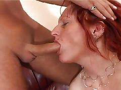 Red haired cum starving momma fucking hard at 50