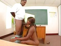 Ebony milf teacher