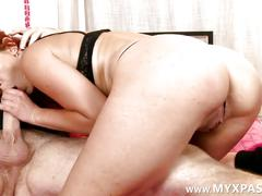 Charming french redhead fucked front of a cam
