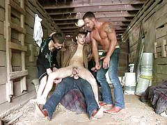Gay orgy on the ranch