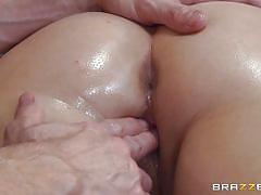 big ass, massage, babe, ass fingering, oiled, brunette, rubbing, tattooed, pussy rubbing, dirty masseur, brazzers network, casey cumz, johnny sins