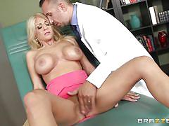 milf, blonde, doctor, pussy licking, pussy rubbing, big breasts, doctors office, doctor adventures, brazzers network, keiran lee, kayla kayden