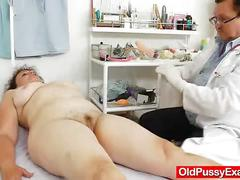 pussy, gaping, milf, mature, old, hairy, mom, doctor, speculum, hospital, internal, enema, closeups, check, cervix