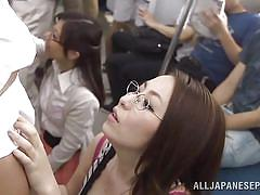 Japanese ladies have some experience with public transportation
