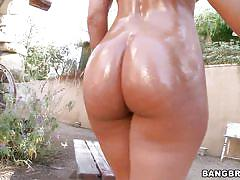 milf, interracial, outside, blowjob, oiled, bubble butt, brunette, bbc, hammock, pawg, bangbros network, olivia wilder