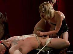 Ball gagged, tied and fucked by his divine bitch