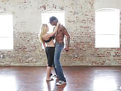 Blonde slut has erotic sex with her dance instructor