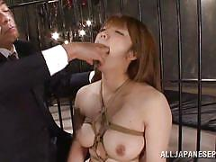 Japanese slut is tied up in prison