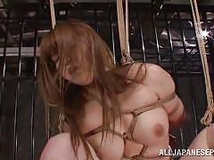 Japanese slut is tied up in prison