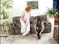 Crazy granny tastes a cock @ mature kink 14