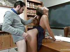 babe, interracial, asian, schoolgirl, teacher, rough sex, slim, socks, brunette, classroom, from behind, ass spanking, elastic ass, sex and submission, kink, tommy pistol, alina li