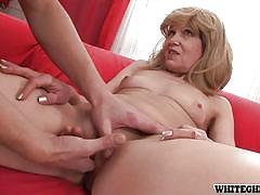 blonde, granny, ball sucking, pussy fingering, cock sucking, granny ghetto, fame digital, michelle g, steve q