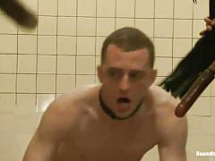 Things get hot in the men bathroom