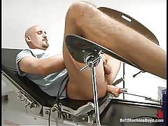 solo, bald, anal insertion, gay, gynecologist table, drill, fuck machine, butt machine boys, kink men, david blakeney