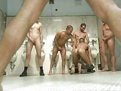 tattoo, handjob, anal, bdsm, public, gangbang, toilet, humiliation, ass fingering, mouth fuck, from behind, gay, bound in public, kink men, eli hunter, marcus isaacs, big red, leo forte