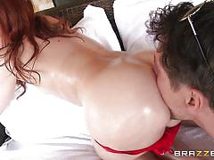 milf, tattoo, massage, redhead, blowjob, ass fingering, oiled, feetjob, round booty, dirty masseur, brazzers network, mick blue, dani jensen