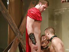 Gay sex slaves feel the lust of their masters