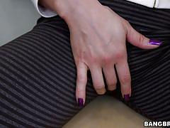 babe, masturbation, blowjob, brunette, leggings, tight pussy, blowjob fridays, bangbros network, kalina ryu