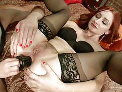 Redhead gets her tight hole licked