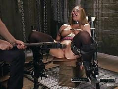 milf, blonde, bdsm, strapon, big tits, vibrator, screaming, tied up, the training of o, kink, holly heart, mickey mod
