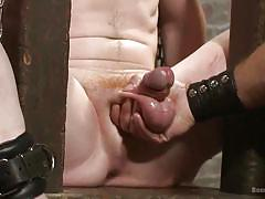 Sex slave boy deserves a hardcore rub