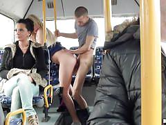 milf, blonde, blowjob, from behind, bus, ridding cock, public transport, mofos b-sides, mofos network, lindsey olsen