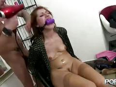 redhead, sexo, mamada, pelirroja, peluqueria
