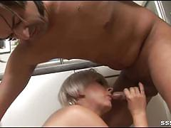 Naughty blonde gets fucked hard in the kitchen