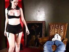 Black lace panty smothering