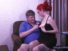 big, tits, creampie, blowjob, redhead, roleplay, indica, older-younger, izrah