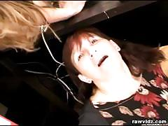 Kinky brunettes share an older guy's hard cock