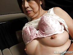 handjob, mature, japanese, brunette, censored, in car, licking tits, japanese matures, all japanese pass