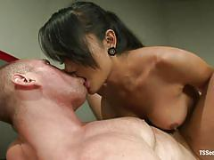 Sensual shemale ass fucks her man