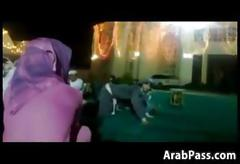 Thick arab chicks twerk at an event