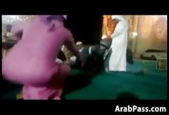 Thick arab chicks twerk at an event