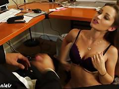 Dani daniels acting like an office whore