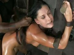 Bondage breeding leaves her shaking