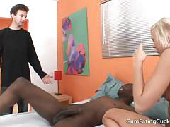 Molly rae's husband sucks that black cock for her