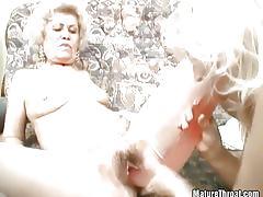 Lesbian scene among grannies