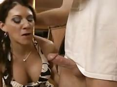 Step mom blackmailed into fucking son