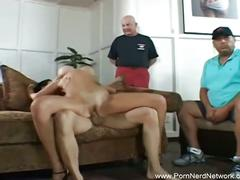 Cuckold wifey swallows cum